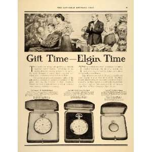 1909 Ad Elgin Time Watches Antique Vintage Models Gifts