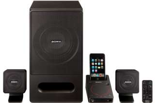 Sony 2.1 Surround Sound Tower Speaker System iPod/iPhone Dock Docking