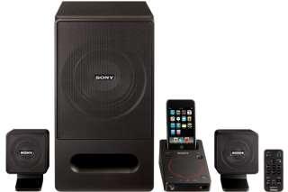 Sony 2.1 Surround Sound Tower Speaker System iPod/iPhone Dock Docking
