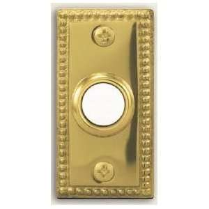 Heath Zenith 854 Polished Brass Collection, Wired Push Button, Lighted
