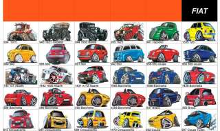 Koolart Fiat Caricature MUG MOUSE MAT PRINT