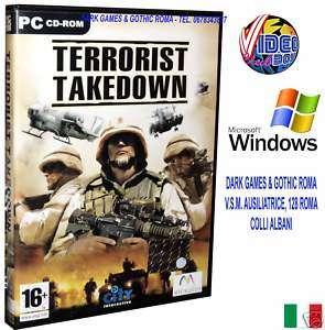 TERRORIST TAKEDOWN GIOCO PC CD ROM USATO ITALIANO WIN