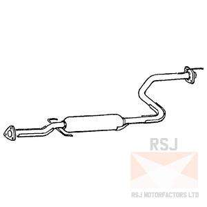 HONDA CIVIC 1.8 VTI 97 00 EXHAUST CENTRE PIPE HA271B