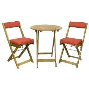 Ivena International IVN00021 RED Red Three Piece Bistro Set