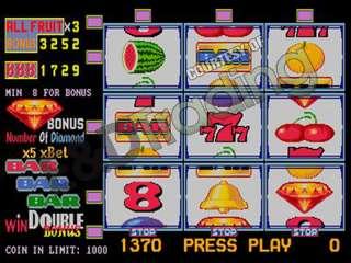 Fruit Bonus 96 SE 8 Line/Cherry Master Game Board