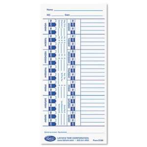 Lathem Universal Time Card LTHE100 Office Products