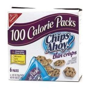 Nabisco Chips Ahoy! Thin Crisps 100 Calorie Packs 6 ct (Quantity of 7)