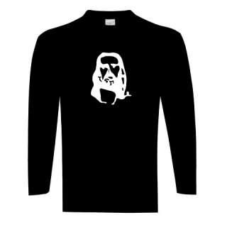 T Shirt noir homme ILLUSION DOPTIQUE jesus TM TL TXL