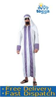 Mens Fancy Dress Costume ARAB SHIEK *One Size* Party Quality