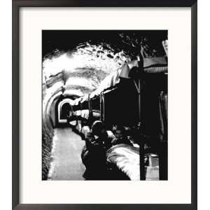 London Underground Tunnels with Bunk Beds, WWII Framed