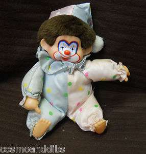 VINTAGE CHIC A BOO MONCHICHI CORKY CLOWN TYPE DOLL SUCKS THUMB