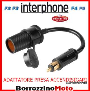 KIT ADATTATORE PER MINI CONNETTORE MOTO 12V CELLULARLINE MOTO AUTO