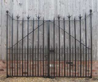 of Victorian Salvaged Antique Wrought Iron Gates with hinges,antique