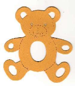 20 Die cut cuts teddy bear open arms accucut ast colour