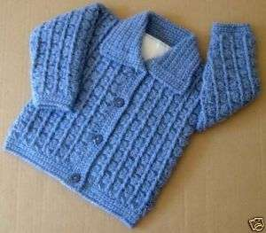 Crochet Baby Boy Hooded Sweater Pattern : BABY BOY CROCHET PATTERN SWEATER - Free Patterns