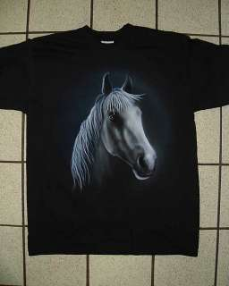 Airbrushed Horse (design no.2) Design on a Black T shirt in any Size