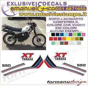 KIT ADESIVI DECAL STICKERS YAMAHA XT 550 82