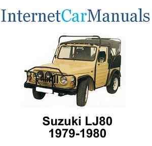 Suzuki LJ80 Workshop / Service / Repair manual 295 pages pdf CD