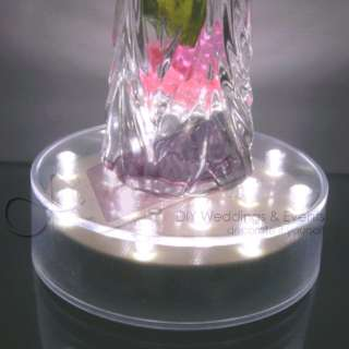 White LED E Luminator Wedding Vase Wireless Light Base