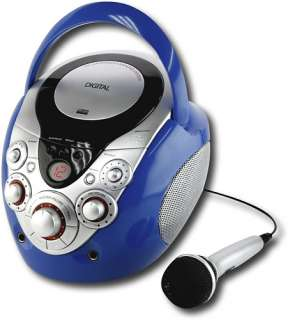 GPX Portable Karaoke Party Machine CD+G Blue J108BL
