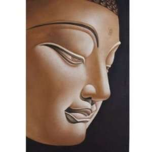 Buddha Painting in Brown: Home & Kitchen