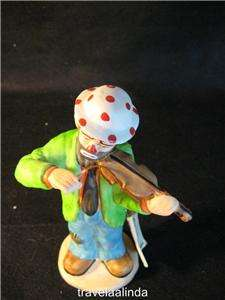 Emmett Kelly musical clown figurine 7 1/2 violin player