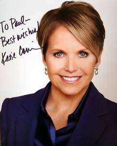 Katie Couric CBS News signed 8x10 photo autograph