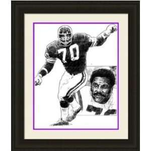 Minnesota Vikings Framed Jim Marshall Minnesota Vikings By