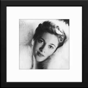 Joan Fontaine Custom Framed And Matted B&W Photo Total Size 20x20