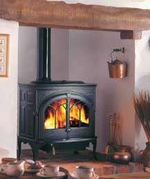 Jotul F600 wood burning stove matt black