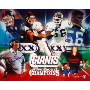 Bill Parcells, Phil Simms and Lawrence Taylor New York