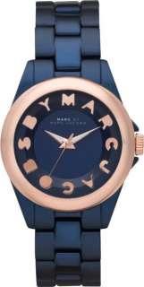 MARC JACOBS ANALOG BLUE ROSE GOLD TONE WOMENS WATCH MBM3526*