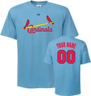 St. Louis Cardinals T Shirt Personalized Cooperstown Name and Number