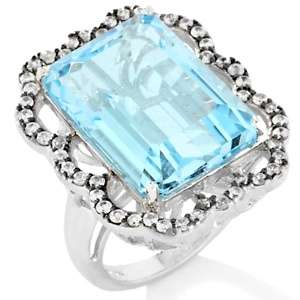 Yours by Loren 20.62ct Sky Blue Topaz and White Zircon Sterling Silver