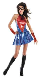 Sassy Sexy Deluxe Spider Girl Costume   Spiderman Costumes