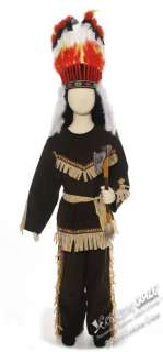 Kids Brave Wolf Indian Costume   Western Indian Costumes