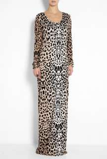 ALICE by Temperley  Sand Renaissance Animal Print Maxi Dress by ALICE