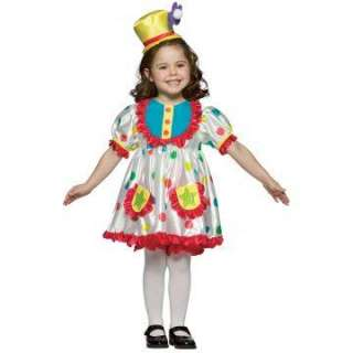 Clown Girl Child Costume   Includes Dress, Bloomers, Headband/Hat