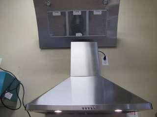 30 STAINLESS STEEL WALL MOUNTED kitchen HOOD, FAN