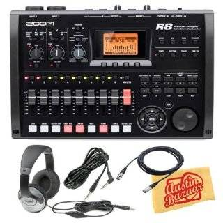 zoom r8 digital multi track recorder interface controller and sampler
