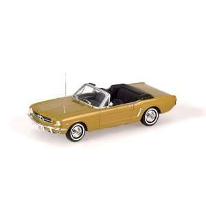 FORD MUSTANG CONVERTIBLE 1964 in GOLD Diecast Model Car in 143 Scale