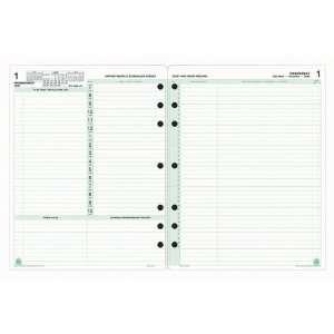 Day Timer 2 Pages Daily Calendar Refill Pages Office Products