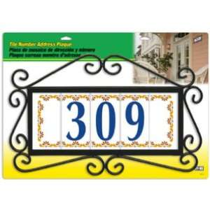 each Hy Ko Large Tile Address Plaque (AK TL5) Home Improvement
