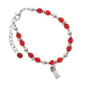 Baby Bottle Red Czech Glass Beaded Charm Bracelet [Jewelry] Jewelry