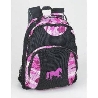 Pink Camo Barrel Racing Horse Backpack:  Sports & Outdoors