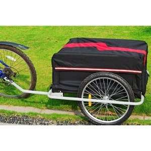 Aosom Large Bike Cargo Trailer   Red