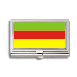 Bodoland India Flag Business Card Holder Metal Case