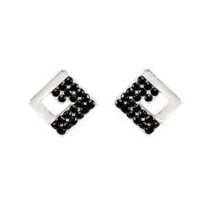 Perfect Gift   High Quality Glistering Rectangle Earrings with Black