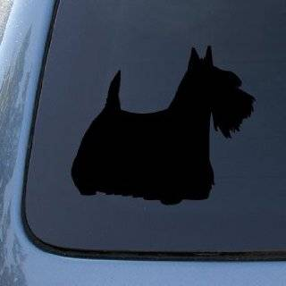 TERRIER SILHOUETTE   Dog Decal Sticker #1555  Vinyl Color: Black