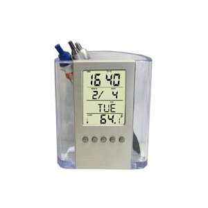 Holder / Calendar Thermometer Desk Office Alarm Clock: Office Products